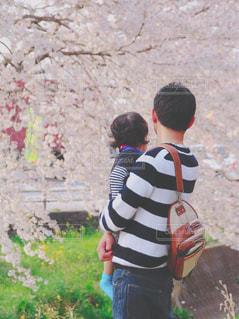 はじめてのお花見の写真・画像素材[1117457]