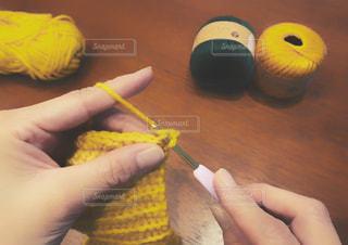 編み物の写真・画像素材[1571442]