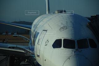 山の上の空港。朝は機体が凍りつきます。の写真・画像素材[1047602]