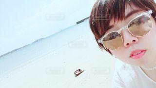 漢那ビーチにての写真・画像素材[1121185]