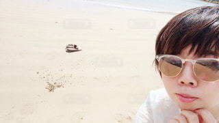 漢那ビーチにての写真・画像素材[1121186]