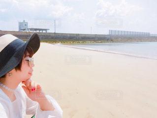 漢那ビーチにての写真・画像素材[1121187]