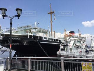 大型船はドックにドッキングの写真・画像素材[1032536]