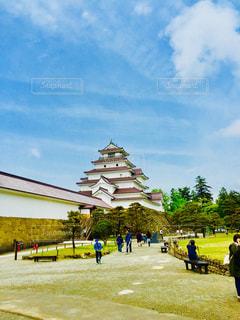 福島県会津若松市の鶴ヶ城の写真・画像素材[1033060]