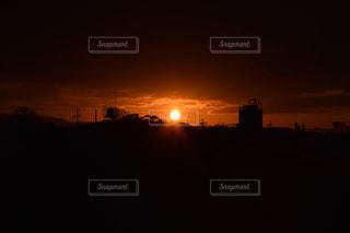 朝日 初日の出の写真・画像素材[1032720]