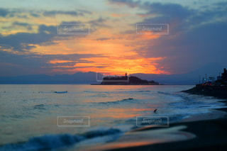 江ノ島サンセットの写真・画像素材[1092494]