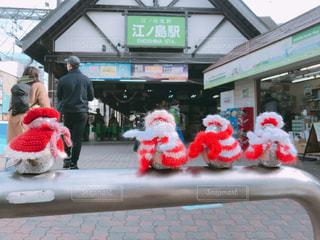 江ノ島駅の冬の装いの写真・画像素材[1092507]