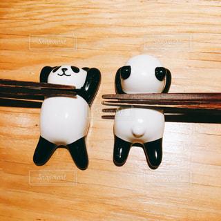 パンダの箸置きの写真・画像素材[1033415]