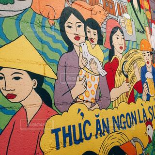タイ料理の壁画の写真・画像素材[1034610]