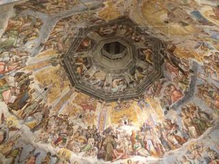 イタリアのフィレンツェ ドゥオモの天井内部の写真・画像素材[1034362]