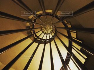 螺旋階段の写真・画像素材[1034138]