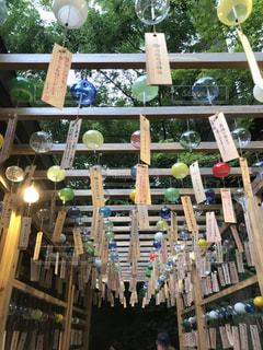 氷川神社の風鈴の写真・画像素材[1070614]