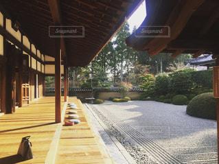京都、一休寺の庭の写真・画像素材[1070638]