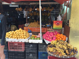 アジアのストリートマーケットの写真・画像素材[1075168]