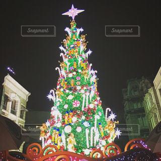 建物の前にクリスマス ツリー - No.1035185
