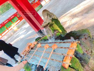 神宮の手水場の写真・画像素材[1035306]