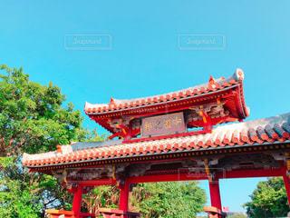青空と守礼門の写真・画像素材[1035313]