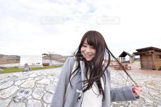 笑っている女性の写真・画像素材[1035280]