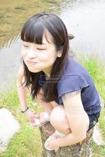 ヤンキー座りの写真・画像素材[1217355]