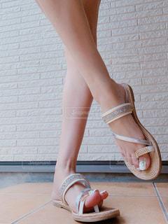 Selfie★Bijou sandalsの写真・画像素材[2270429]
