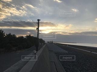 有明海の初日の出の写真・画像素材[1035797]