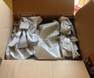 紙の梱包材の写真・画像素材[4795888]