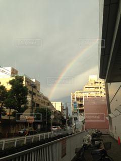 虹の街の写真・画像素材[1036671]