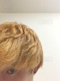 金髪の自撮りの写真・画像素材[1456555]