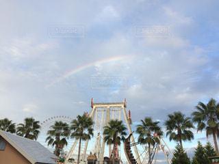 雨上がりの遊園地の写真・画像素材[1038403]