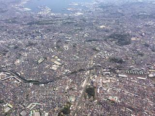 空から見た都心の写真・画像素材[1049420]