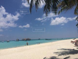 砂浜に座っている人々 のグループの写真・画像素材[1038263]