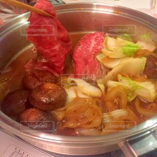 松阪牛ですき焼きの写真・画像素材[1713897]
