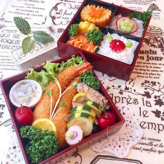 エビフライ ミニお重のお弁当の写真・画像素材[2142404]