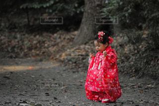 七五三の娘の写真・画像素材[1039431]
