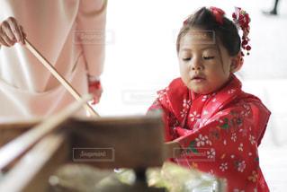 七五三の娘の写真・画像素材[1039433]