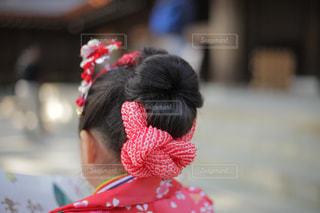 七五三の娘  髪型の写真・画像素材[1039438]