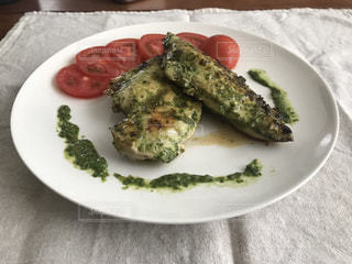 ブロッコリー料理のプレートの写真・画像素材[1250526]