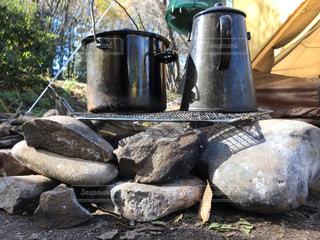 ストーブの鍋の写真・画像素材[1651565]
