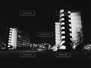 夜の団地②の写真・画像素材[1039478]