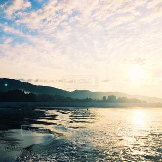朝の海の写真・画像素材[1039011]