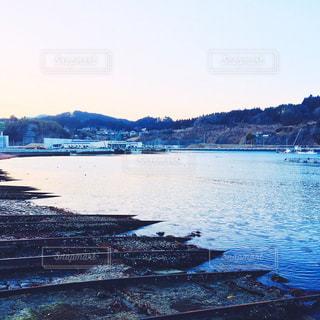 夕方の造船場の写真・画像素材[1039019]