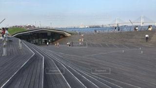 大さん橋にての写真・画像素材[1039129]