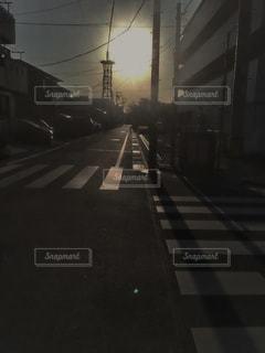 街の通りのビューの写真・画像素材[1052206]