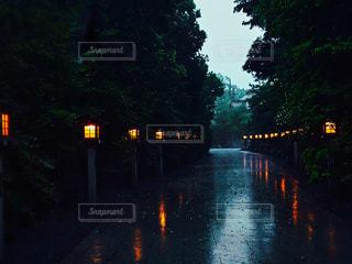 濡れた神道の写真・画像素材[1171438]