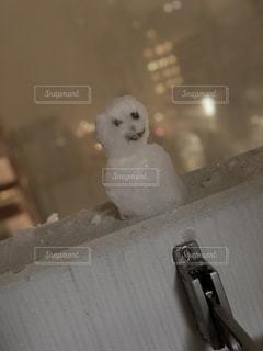 都会の雪だるまの写真・画像素材[1039177]