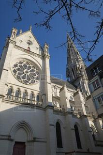 白い教会の写真・画像素材[1040033]