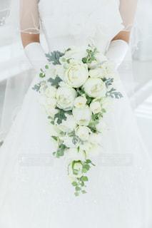 ウェディング ドレスを着た女性の写真・画像素材[1040488]