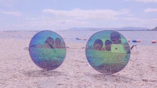 近くの砂浜のビーチの写真・画像素材[1039451]