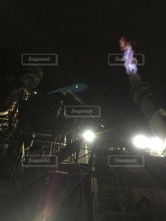 夜間作業の写真・画像素材[1047215]