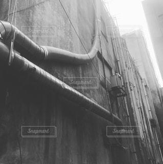 雑居ビル モノクロの写真・画像素材[1039527]